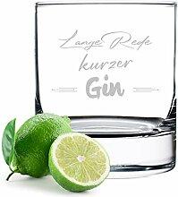polar-effekt Gin Tonic Glas mit gravierten Spruch
