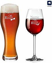 polar-effekt Weizenglas und Weinglas
