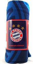 Polarfleecedecke FC Bayern München Logo mit vier