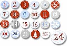 Polarkind 24 Adventskalender Buttons zum selber