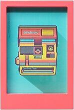 Polaroid Schreibtisch Rahmen–Pink