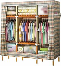 POLAY Kleiderschrank aus Holz, Stoff tragbaren
