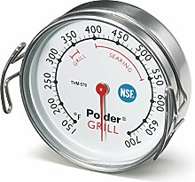 Polder Grill Surface Thermometer, Silver by Polder