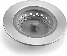 Polder Waschbecken-Sieb/Stopfen, grau