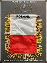 Polen Flagge Klein Mini Auto Fenster Rückspiegel
