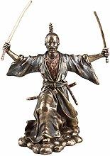 Poliert Bronze Japanische Samurai Warrior