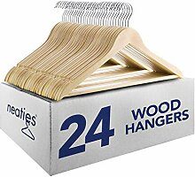 Poliert natur Everyday Holz Kleiderbügel mit