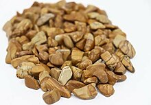 Polierte Kieselsteine Dekosplitt Holz 20kg von