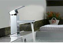poliertes Chrom Bad Waschbecken Wasserhahn Messing