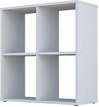 Polini Home Raumteiler Bücherregal Regal weiß 4