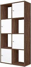 Polini Home Stufenregal Raumteiler Braun 8 Fächer