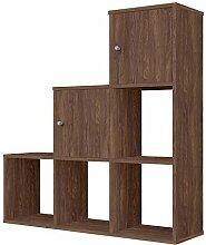 Polini Treppen- Stufenregal Raumteiler Braun 6