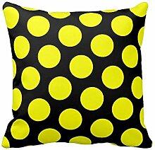 Polka Dot Muster Kissen Fall Kissen Sofa quadratisch, Color1, 40,6 x 40,6 cm (16 x 16 Zoll)