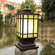Pollerlampe Retro E27 Zaunlampe Wasserdicht