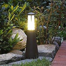 Pollerleuchte Leuchtturm Stil 37 cm | rost-braun + IP54 + E27 + robust + winterfest + dimmbar | Wegeleuchte | Außenleuchte | Gartenbeleuchtung | Standleuchte | Gartenlampe | Außenlampe | Wegelampe