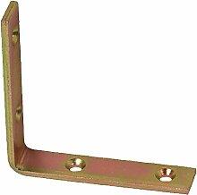 Pollmann Schwere Kisten- / Stuhl- / Treppenwinkel gelb verzinkt 160mm, 10 Stück