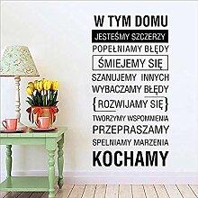 Polnische Hausordnung Wandaufkleber für