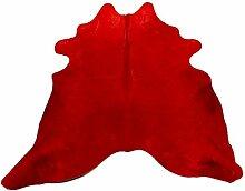 Pols Potten Bullskin Teppich Rot (Ø) 4.00 Cm