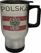 polska Edelstahl Thermischer Reisebecher 14oz