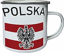 polska Retro, Zinn, Emaille 10oz/280ml Becher