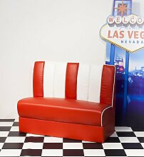 Polster Sitzbank Vegas AMERICAN DINER rot-weiß