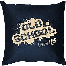 Polster zum Geburtstags Geschenkidee Kissen mit Füllung Old School 1965 Geschenk zum 52 Geburtstag Geburtstag 52. Geburtstag 52 Jahre Mitbringsel