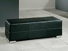 Polsterbank Sitzbank Torero 120x42,5x45cm verschiedene Farben Hocker Kunstlederbank Sitzhocker, Farbe:schwarz