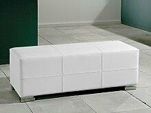 Polsterbank Sitzbank Torero 120x42,5x45cm verschiedene Farben Hocker Kunstlederbank Sitzhocker, Farbe:weiß