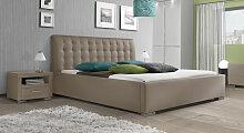 Polsterbett Comfort, 200x200 cm, braun