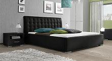 Polsterbett Comfort, 200x200 cm, schwarz