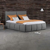 Polsterbett in Grau Webstoff modern
