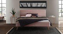 Polsterbett Marfasia, 140x220 cm, rose