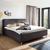 Polsterbett mit Bettkasten und Lattenrosten Braun