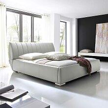 Polsterbett mit Lattenrost Weiß