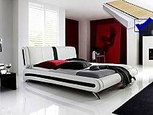 Polsterbett weiss komplett Bett 140x200 +