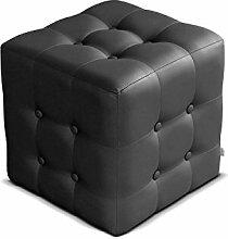 Polsterhocker Rose I Sitzbank, 3 Farben Cube, Sitzhocker, Fußbank, Pouf Hocker, Sitzwürfel Fußhocker (Soft 011)