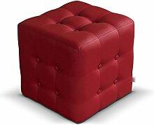 Polsterhocker Rose I Sitzbank, 3 Farben Cube, Sitzhocker, Fußbank, Pouf Hocker, Sitzwürfel Fußhocker (Soft 010)