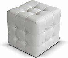 Polsterhocker Rose I Sitzbank, 3 Farben Cube, Sitzhocker, Fußbank, Pouf Hocker, Sitzwürfel Fußhocker (Soft 017)