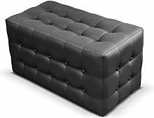Polsterhocker Rose II Sitzbank, 3 Farben Cube, Sitzhocker, Fußbank, Pouf Hocker, Sitzwürfel Fußhocker (Soft 011)