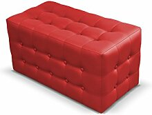 Polsterhocker Rose II Sitzbank, 3 Farben Cube, Sitzhocker, Fußbank, Pouf Hocker, Sitzwürfel Fußhocker (Soft 010)