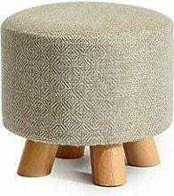 Polsterhocker Schuhhocker Schminkhocker runde Hocker feste Holzhocker abnehmbare Reinigung sitzender Komfort ist nicht müde ( Color : #c )