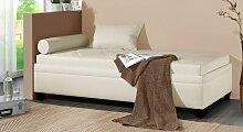 Polsterliege Kamina, 120x200 cm, creme