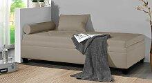 Polsterliege Kamina, 90x200 cm, beige