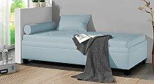 Polsterliege Kamina, 90x200 cm, blau