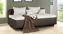 Polsterliege Komfort, 100x200 cm, taupe