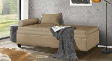 Polsterliege Komfort, 90x200 cm, braun