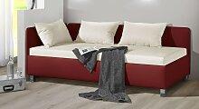 Polsterliege Lisala, 120x200 cm, rot