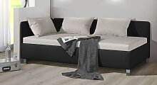 Polsterliege Lisala, 120x200 cm, schwarz