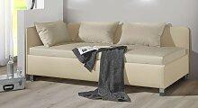 Polsterliege Lisala, 90x200 cm, sandfarben