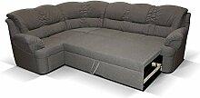 Polstermöbel Dores mit Staukasten und Bettfunktion – Abmessungen: 265 x 210 cm (L x B) - Staukasten: Links